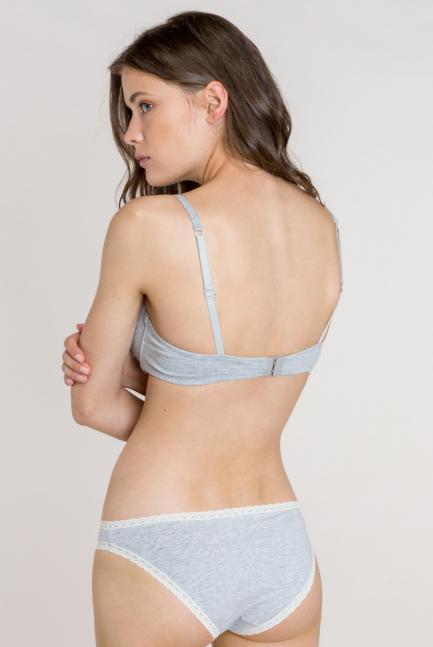 Sujetador tejido de algodón