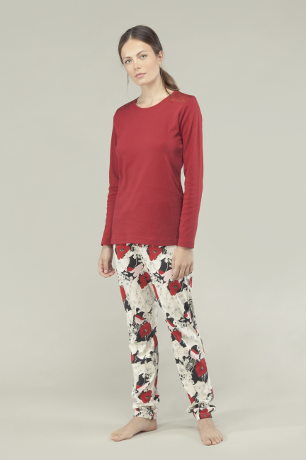 Pijama estampado floral