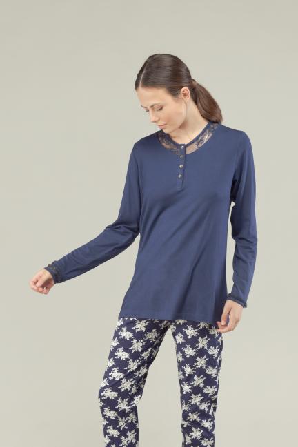 Pijama largo blonda