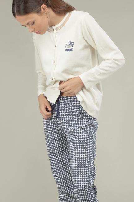 Pijama blonda algodón