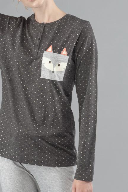 Pijama largo zorrito
