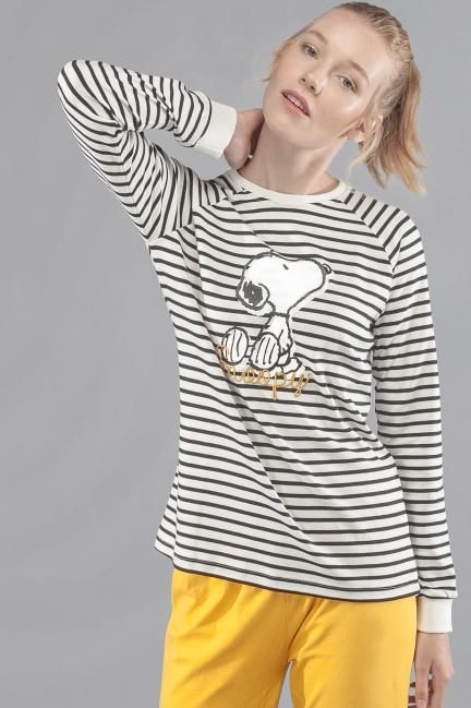 Pijama Snoopy rayas