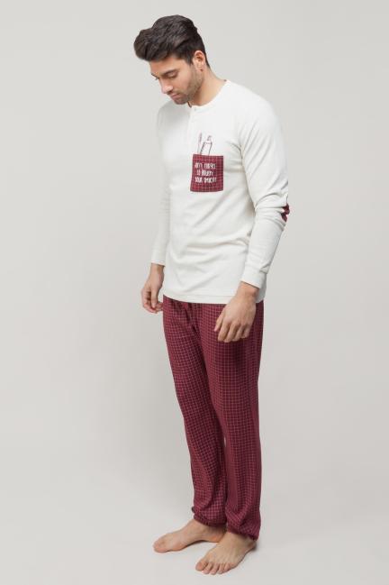 Pijama con bolsillo y print