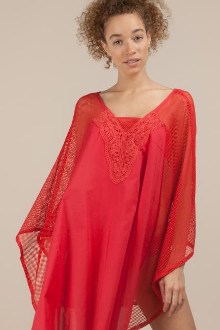 Blusón mangas red