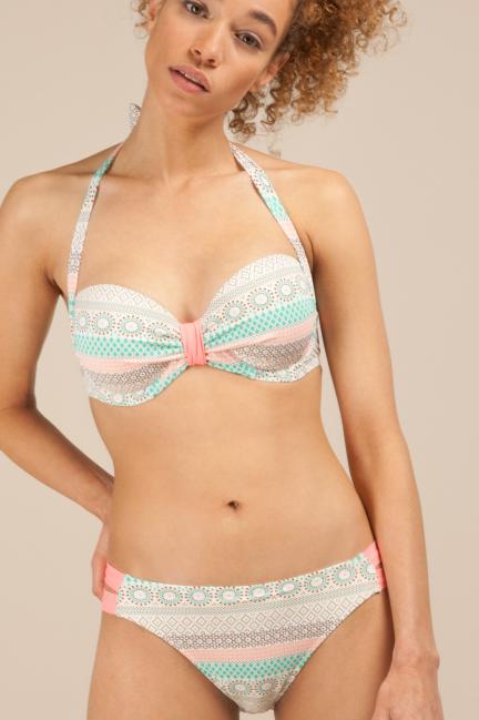 Braguita bikini con laterales a contraste