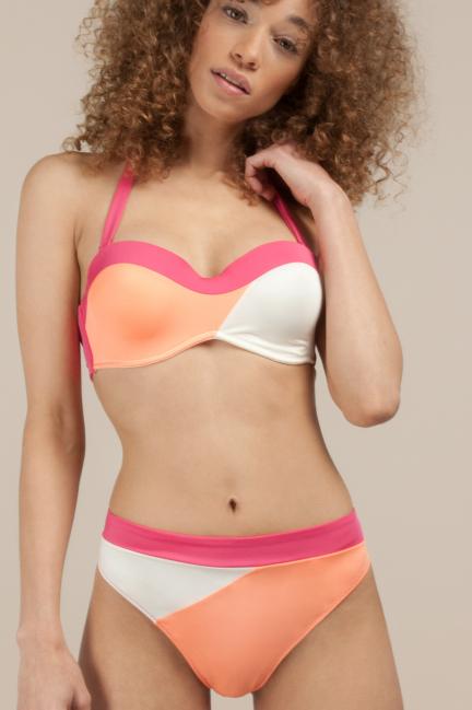 Three-coloured bikini bottoms