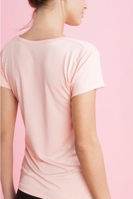 Camiseta manga corta con escote de pico