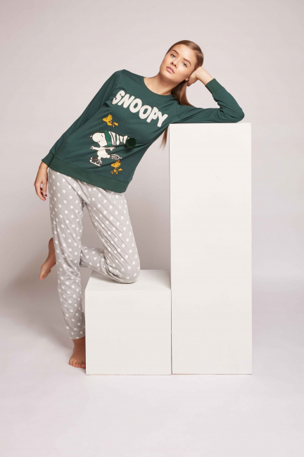 Pijama largo algodón Snoopy