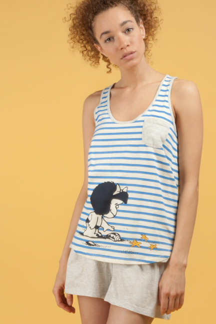 Mafalda pyjama set with a tank top