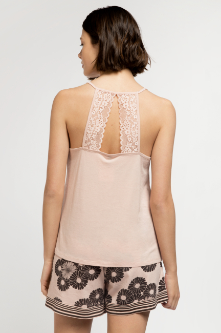 Pijama corto floral