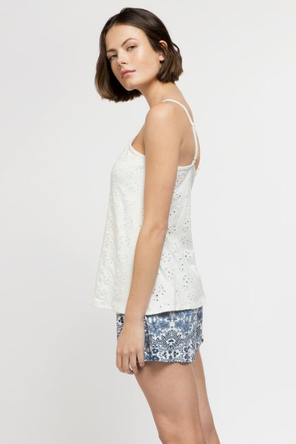 Pijama corto mosaico