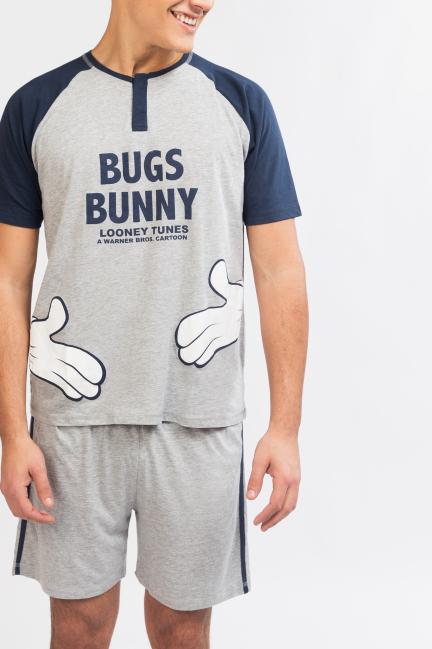 Pijama camiseta y pantalón corto Bugs Bunny