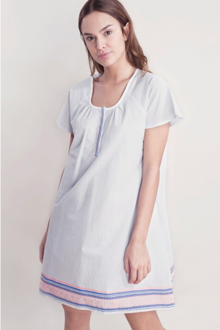 Striped nightie with buttons