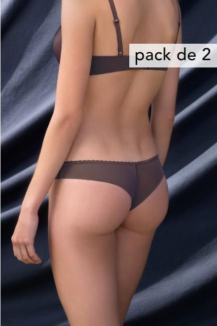 Pack 2 braguitas brasileñas con acabados ultra planos