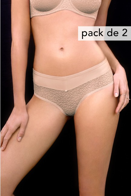 Pack of 2 black shaping and minimising knickers