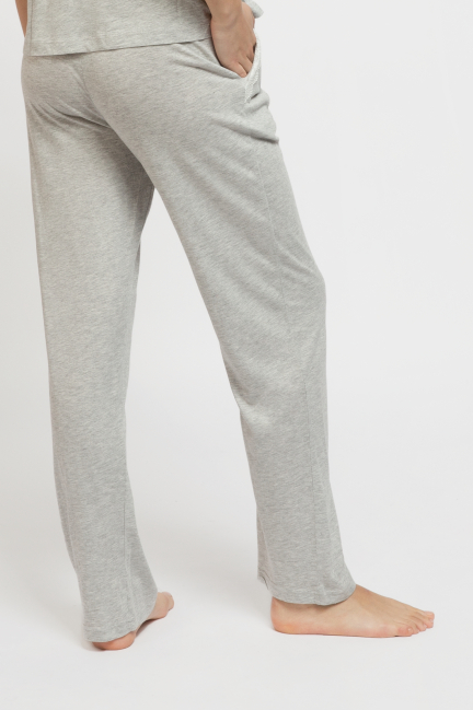 Pantalón pijama largo liso algodón