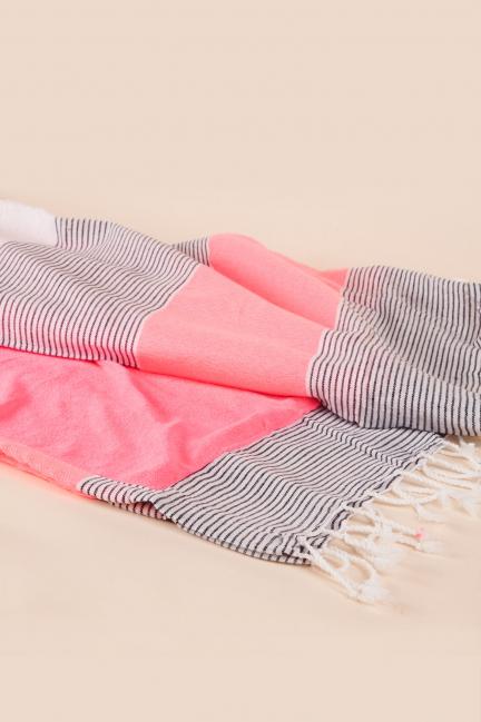 Toalla pareo rosa y azul