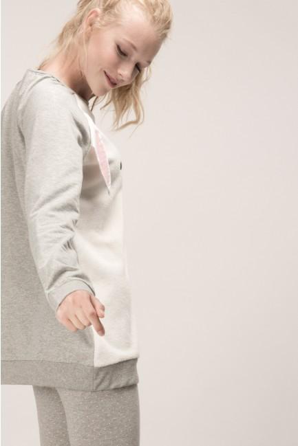 Pijama con camiseta de conejo