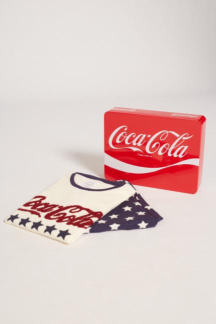 Pijama largo Coca-Cola en estuche de regalo