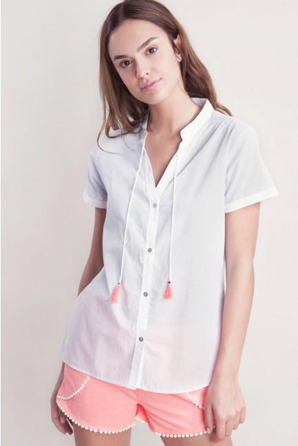 Striped pyjama with a Mandarin collar
