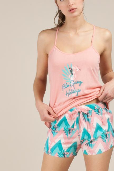 Pijama estampado La Pantera Rosa