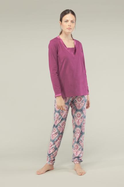 Pijama estampado cashemire