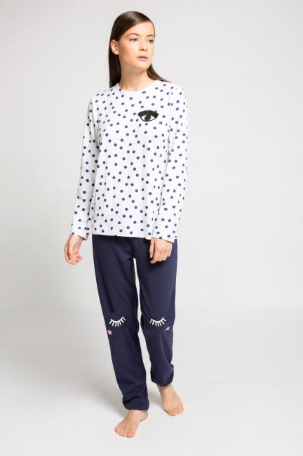 Pijama topos pantalón liso