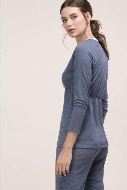 Pijama algodón con encaje