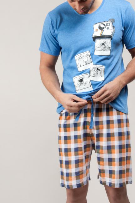 Pijama Monstruo de las galletas con pantalón de cuadros