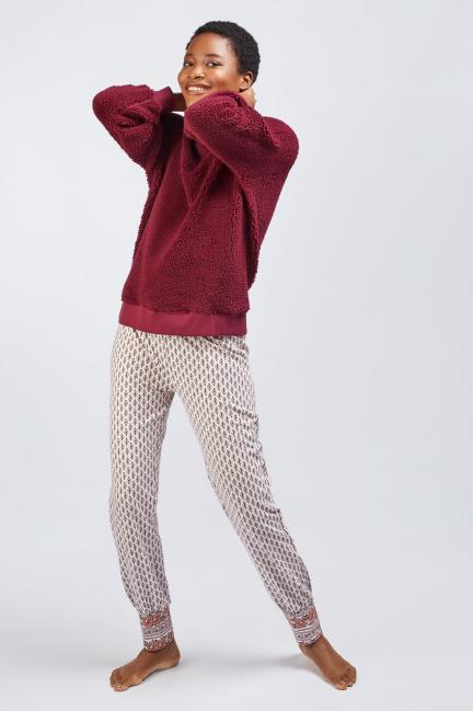 Pijama largo borreguito
