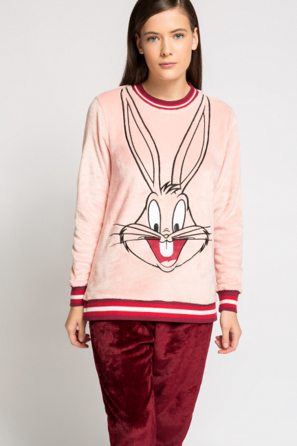 Pijama largo peluche Bugs Bunny