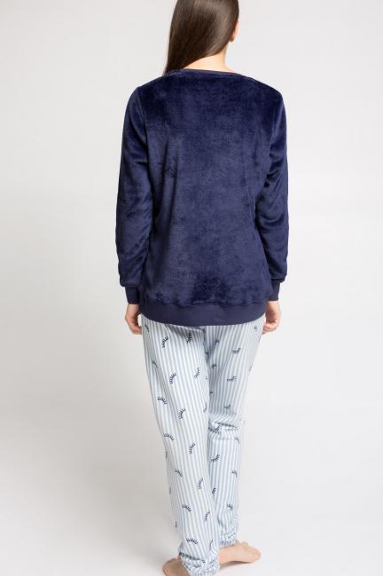 Pijama largo peluche luna