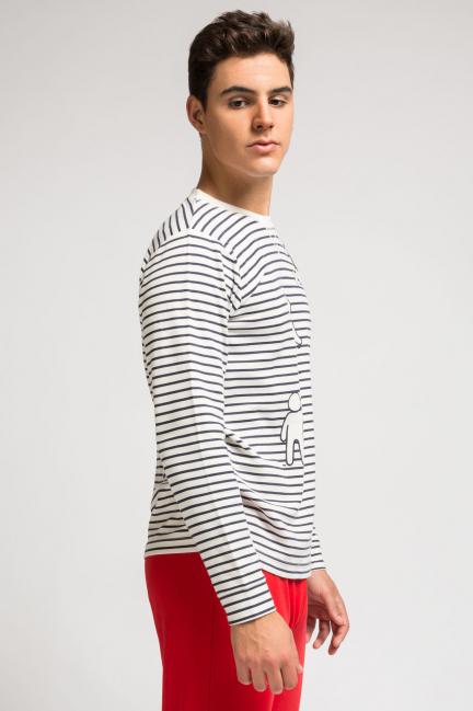 Pijama largo punto rayas
