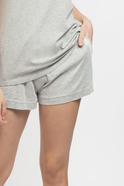 Pantalón pijama corto algodón