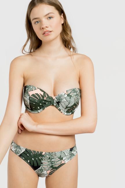 Top bikini bandeau desmontable copas B, C, D y E