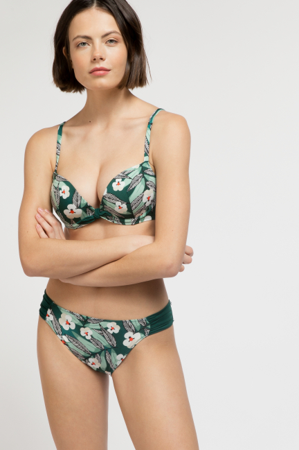 Top bikini floral efecto push up