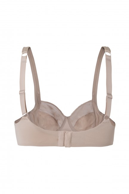 Underwired and non-padded full coverage bra