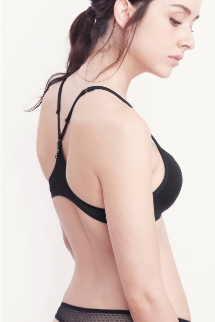 Non-wired triangle bra