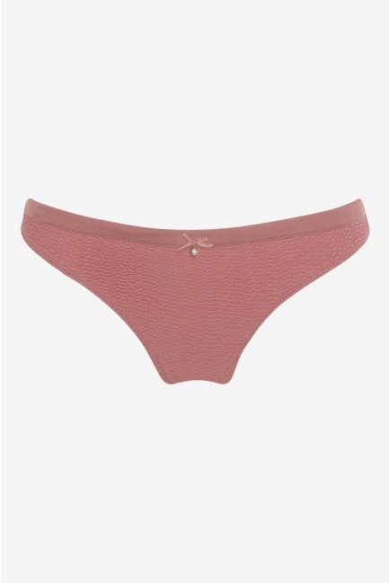 Thong in structure fabric