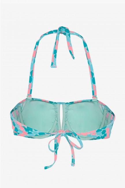Top bikini bandeau con aro y foam extraíble