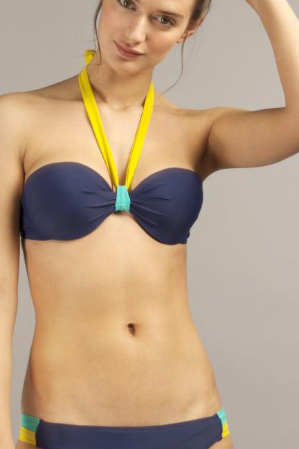 Top bikini bandeau desmontable