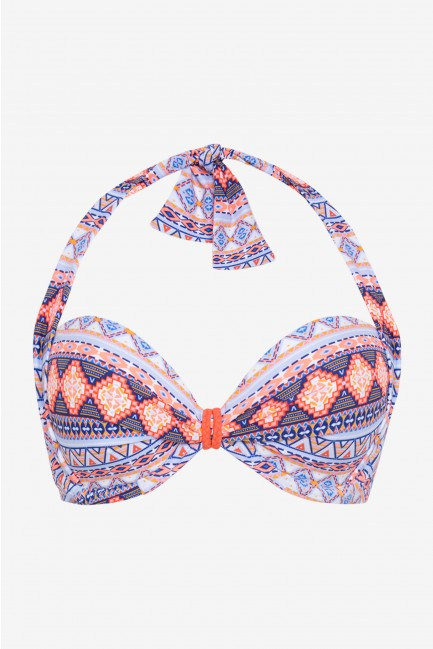 Top bikini bandeau doble posición