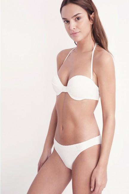 Top bikini bandeau con aro y foam