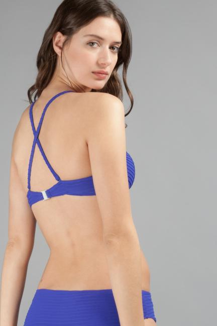 Top bikini en tejido de estructura