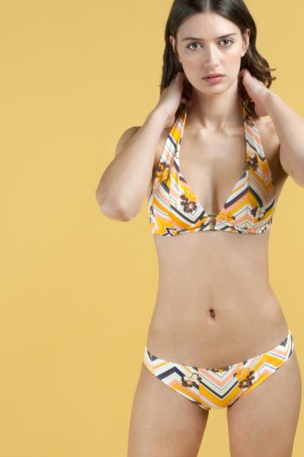 Top bikini triangular