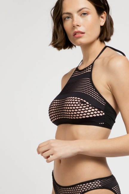 Top bikini halter estructura