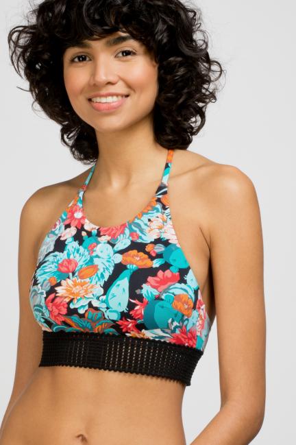 Top bikini halter estampado floral
