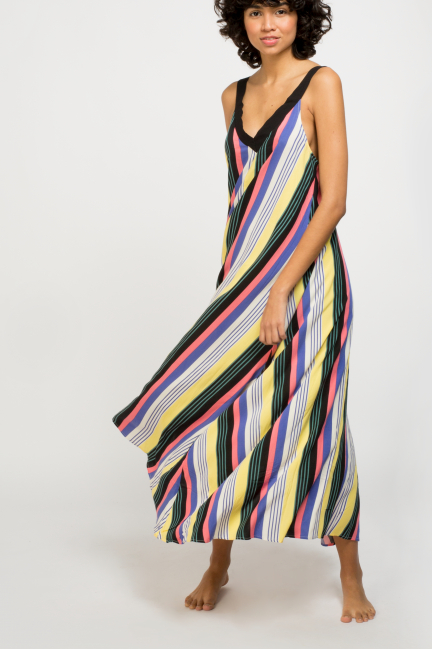 Vestido largo rayas